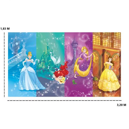 DECOR MURAL PRINCESSES DISNEY SCENES 7LES – JL1391M