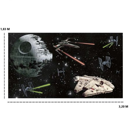 DECOR MURAL VAISSEAUX STAR WARS 7LES – JL1399M