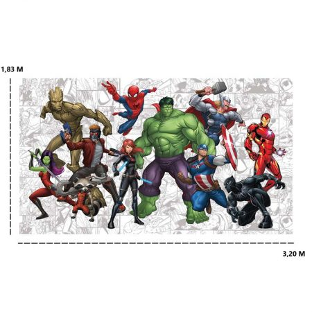DECOR MURAL HERO MARVEL 7LES – JL1433M