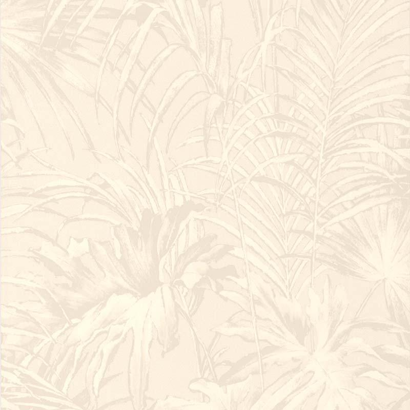 Papier Peint Feuillage Blanc Nacre 51157800 De La Collection