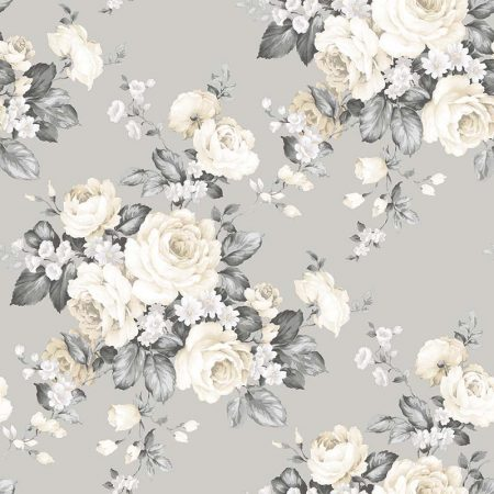 GRAND FLORAL GRIS – MH36505