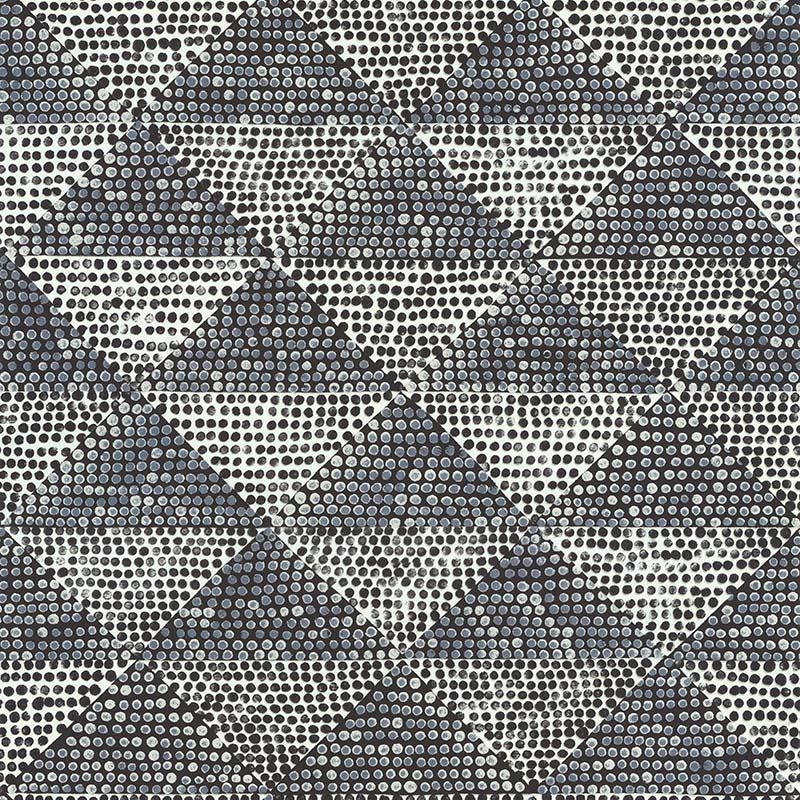 Papier Peint Optical Triangle Noir Et Blanc 11170309 De La