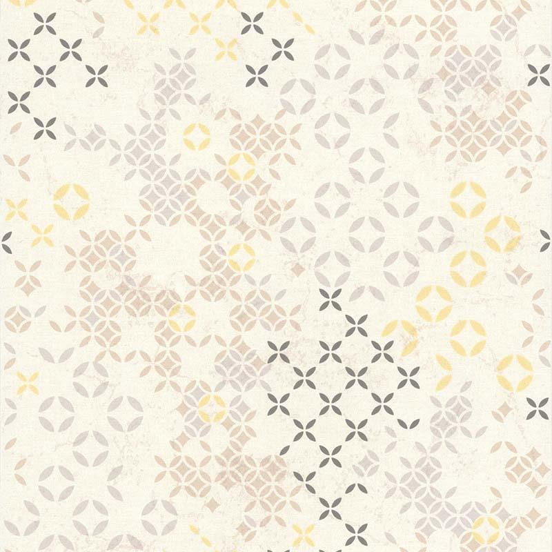 papier peint rosace compas jaune et gris 11171202 de la collection papier peint les essentiels. Black Bedroom Furniture Sets. Home Design Ideas