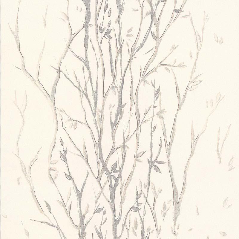 Papier Peint Arbuste Brillant Beige 51116907 De La Collection