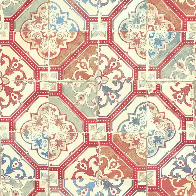 papier peint carreau ciment traditionnel brique 51170420 de la collection papier peint evasion. Black Bedroom Furniture Sets. Home Design Ideas