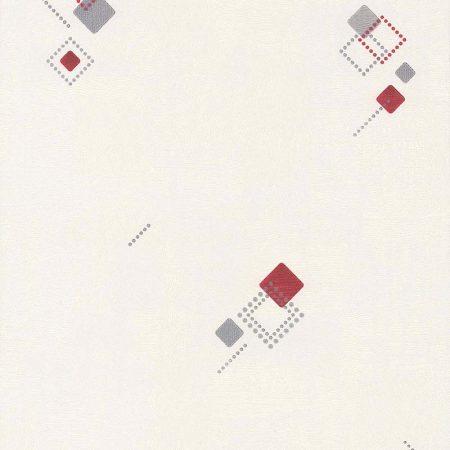 CARRE JACQUARD GRIS ET ROUGE – 425420