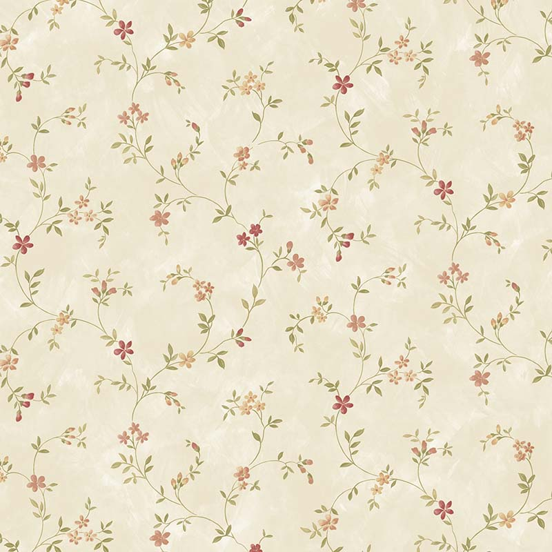 papier peint petites fleurs fond beige ke29907 de la collection papier peint style cuisine 3. Black Bedroom Furniture Sets. Home Design Ideas