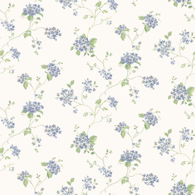 Papier Peint Hortensia Bleu G67864 De La Collection Papier Peint