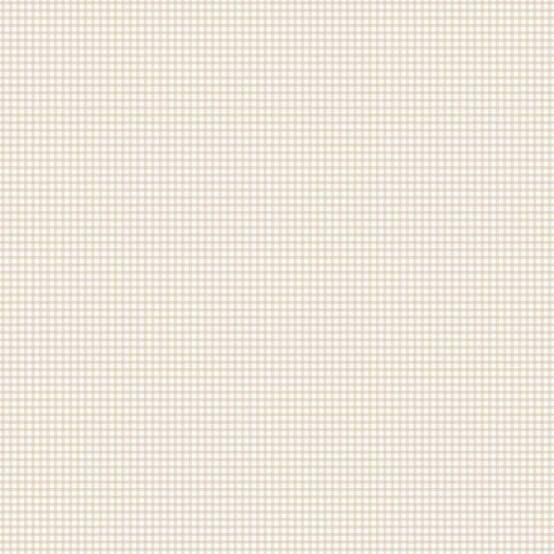 Charmant Papier Peint PETIT VICHY BEIGE ET BLANC   G67873 De La Collection Papier  Peint Miniatures   Lutèce Papier Peint