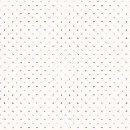 PALMETTE BLEU FOND BLANC – G67898