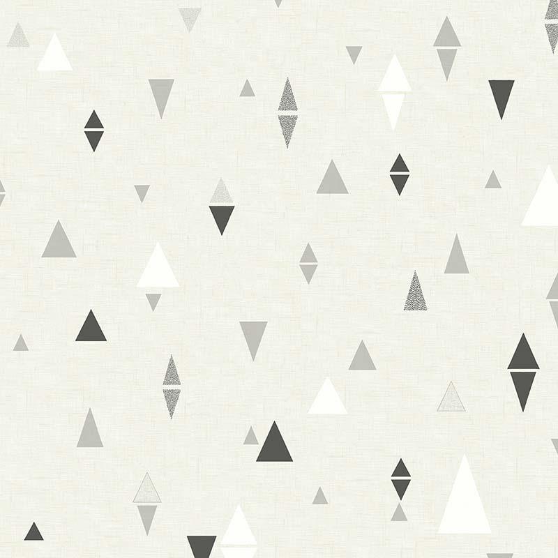 Papier Peint Triangle Gris Et Noir Sd60200 De La Collection Papier