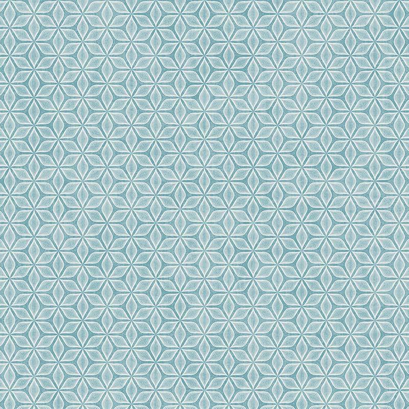 Papier Peint Fleur Art Deco Bleu Sd61102 De La Collection Papier