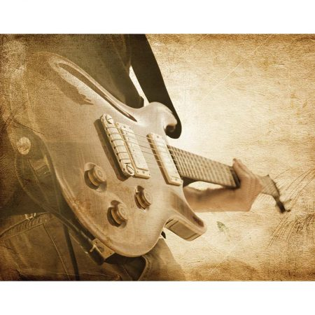 DECOR MURAL SEPIA GUITAR 6 PAN – G45283