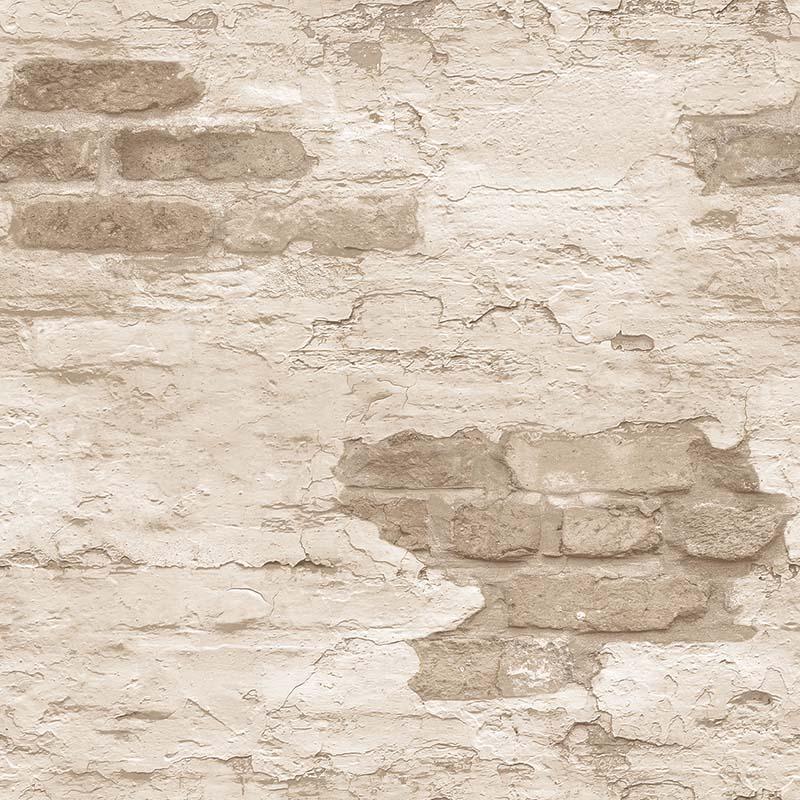 Papier Peint Brique Beige Ecru G45355 De La Collection Papier