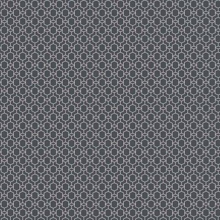 HEXAGONE ARGENT FOND NOIR – 368831