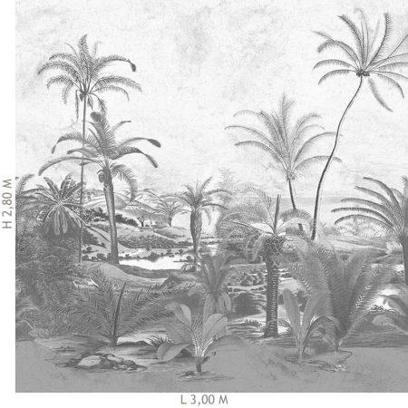 DECOR MURAL PALMIER 6 LES GRIS IMPRESSION NUMERIQUE – 200353