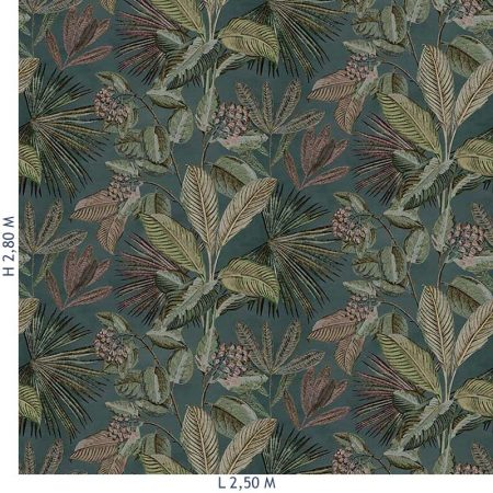 DECOR MURAL TROPICAL 5 LES MULTICOULEUR – 200354DX