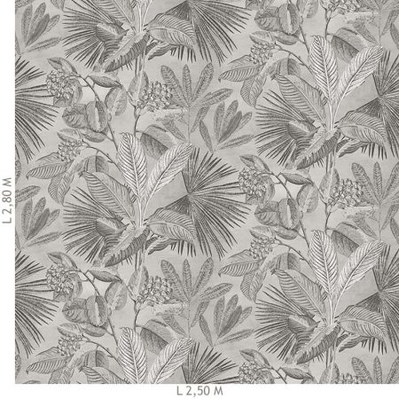 DECOR MURAL TROPICAL 5 LES GRIS – 200355DX