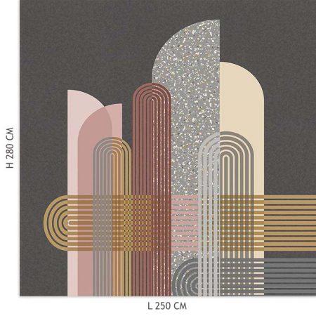 DECOR MURAL MILANO 5 LES GRIS FONCE – 200358