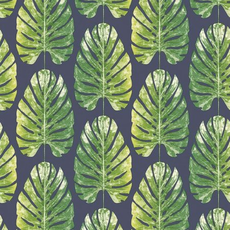 FEUILLE HAWAII FOND BLEU – 7328