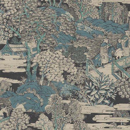 PAYSAGE JAPONAIS BLEU VERT – AF40804