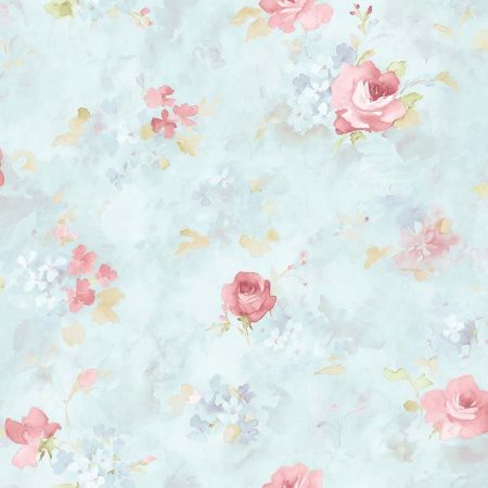 ROSE AQUARELLE ROSE ET BLEU – AB27662