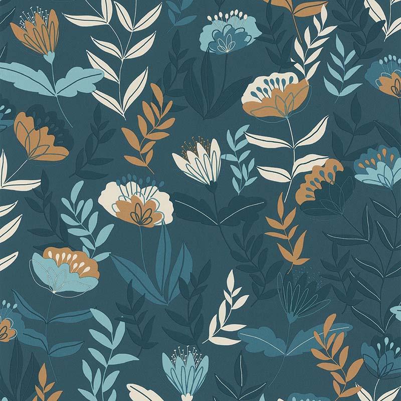 ABSTRACT FLOWERS BLEU – 51194511