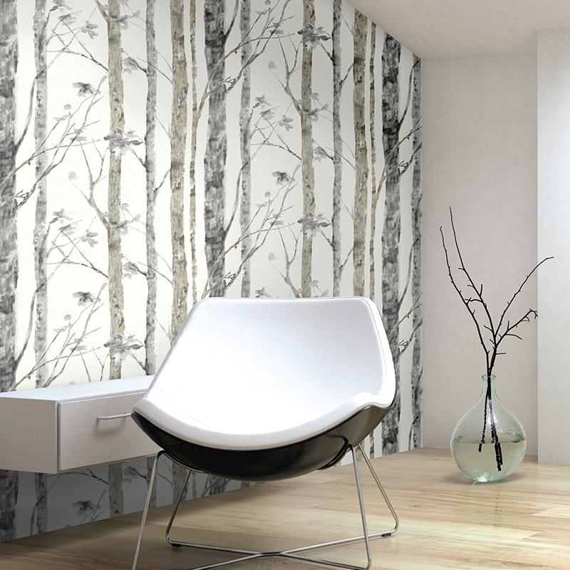 Les Adhésifs | BIRCH TREES GREY - RMK9047