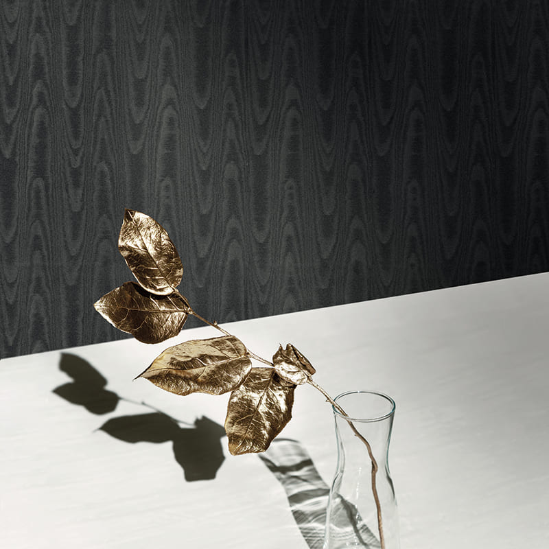 Italian Silk | UNI MOIRÉ NOIR - 24819